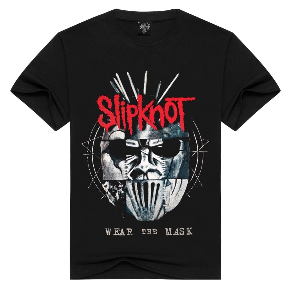 Summer Men/Women Slipknot   t     shirt   Summer Tops Tees Wear the mask Rock   T  -  shirt   Men loose   t  -  shirts   Fashion Tshirts Plus Size