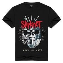 Summer Men Women Slipknot t shirt Summer Tops Tees Wear the mask Rock T shirt Men