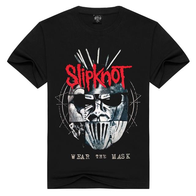 Summer Men/Women Slipknot t shirt Summer Tops Tees Wear the mask Rock T-shirt Men loose t-shirts Fashion Tshirts Plus Size