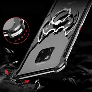 Image 2 - OATSBASF Luxus mit bat ring halter Fall Für Huawei mate 20 Pro Fall für Huawei mate 20 RS 20X Shell fall Metall Stoßfänger abdeckung