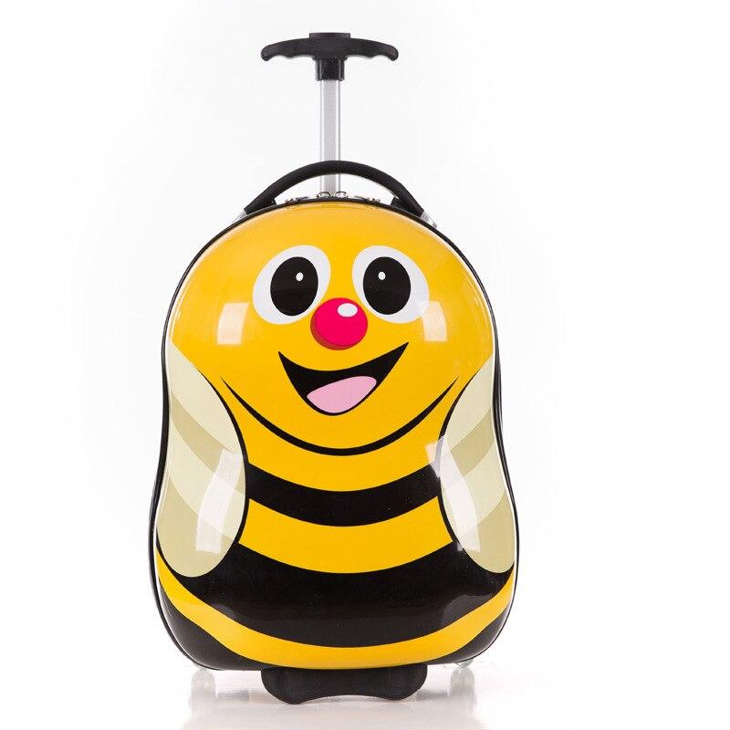 8d775f91e Equipaje de ruedas de dibujos animados + mochila 3D animales niños  maleta/ABS PC maleta de viaje/equipaje para chico equipaje