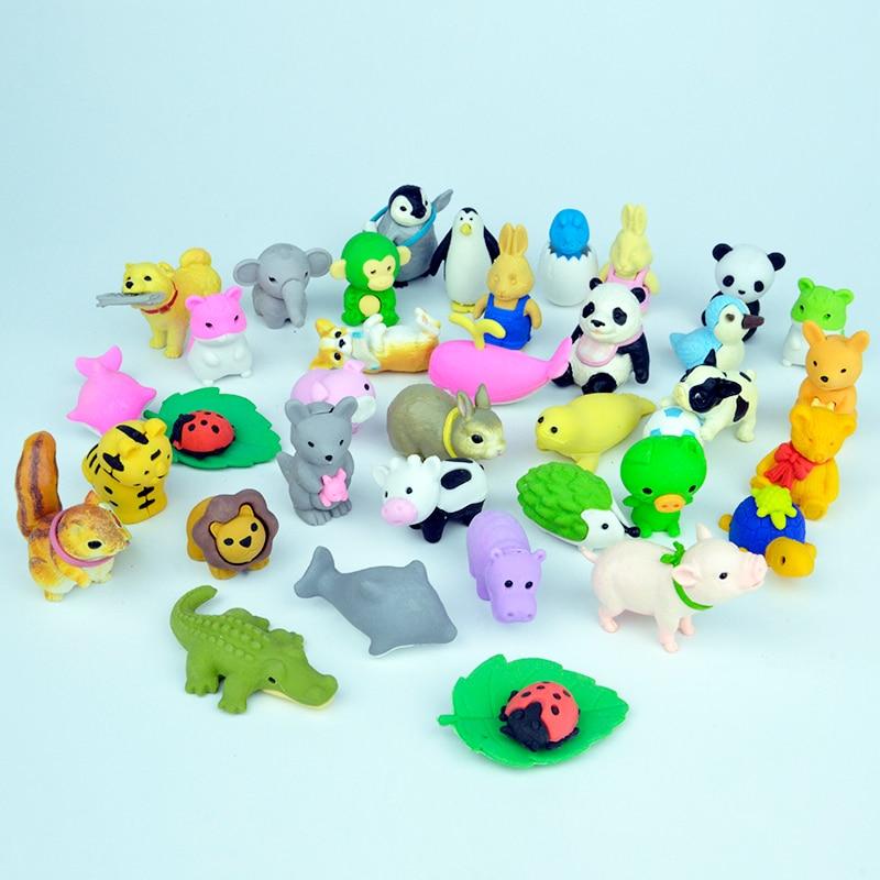 Iwako Cute Panda Family Japanese Erasers Blister Set from Japan