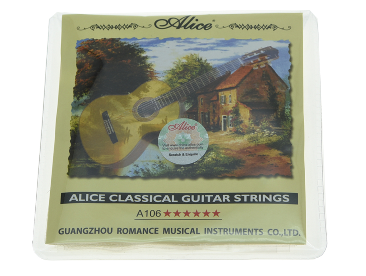 Alice Clear Nylon Classical Guitar String Hard Tension Set of 6 Guitar Strings