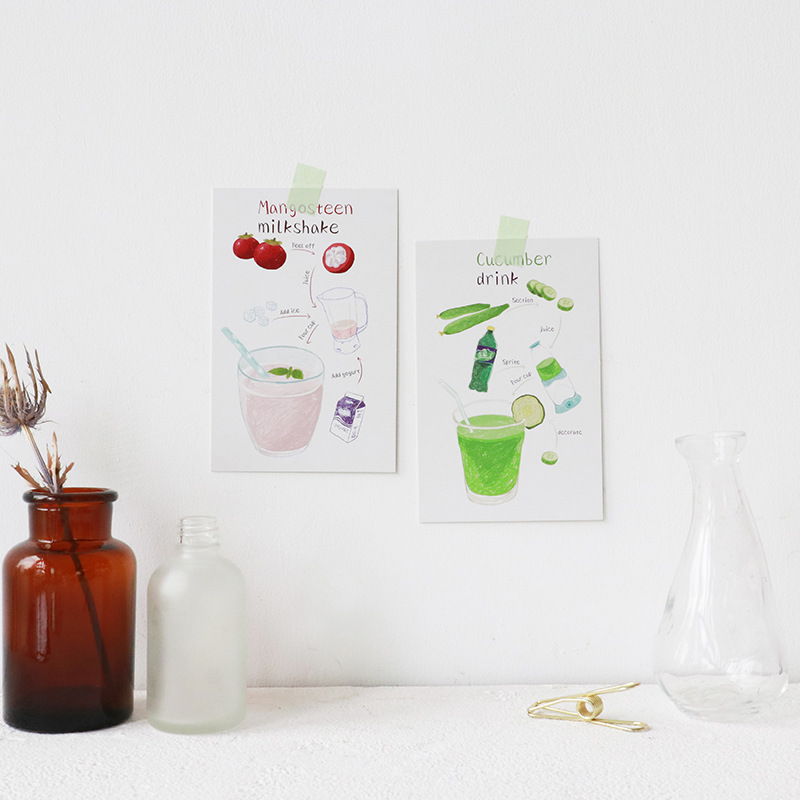 30pcs make a cup of cocktail for you card multi-use as Scrapbooking party invitation DIY gift card message card postcard
