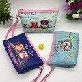 2016 Nueva Lindo de la Historieta Búho de Cuero Doblado Cosmetic Bag Lady bolsa de viaje Impermeable Bolsa de Maquillaje Monedero de La Bolsa de Mujeres de la Cremallera de Lavado bolsa