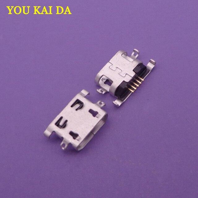 20 ピース/ロットコンピュータコネクタタブレット PC 携帯電話マイクロミニ USB ジャック充電ポート DC ジャック 5pin レノボ A2010