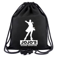 IVYYE JoJo's Bizarre Adventuress Canvas Backpacks Anime Drawstring Backpack Casual String Bags shopping Knapsack Unisex New