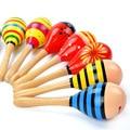 20 cm médio de madeira areia martelo instrumento musical chocalho do bebê brinquedo bola aprendizagem toys