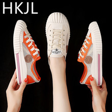 HKJL Womens small white shoes 2019 summer new Korean version with casual breathable biscuit sneaker women A605