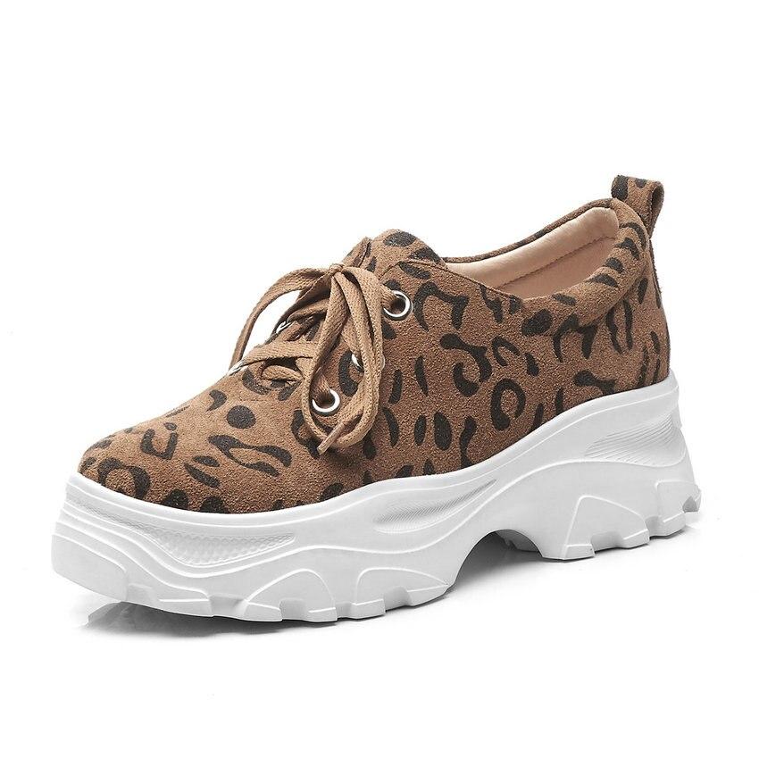 Tamaño Bombas Vaca Zapatos Encuentro 39 Plataforma Calidad 2019 Mujeres Cuñas Las Qutaa Alta Tacón Cuero 34 Marrón Todo Pu gris Encaje De qTa5nB