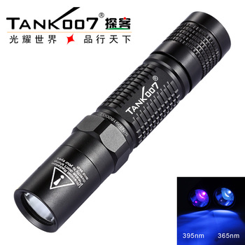Free Shipping TANK007 L03 365nm 5W uv 18650 flashlight black light Lamp Torch Check the site survey marks Authenticity