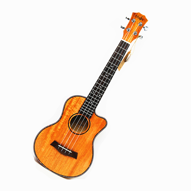 23 inch Mahogany 4 String Ukelele concert Missing Angle Ukulele Hawaiian Guitar Music Instrument Electric Ukulele with Pickup EQ kmise concert ukulele mahogany ukelele 23 inch 18 frets uke 4 string hawaii guitar with gig bag