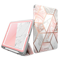 For iPad 9.7 Case (2018/2017) i Blason Cosmo Trifold Stand Case with Auto Sleep/Wake & Pencil Holder, Built in Screen Protector