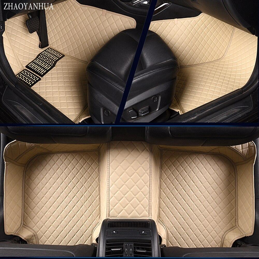 ZHAOYANHUA Car floor mats for Kia Sorento Sportage Optima K5 Forte Rio/K2 Cerato K3 Cadenza Carens Soul 5D car styling liner