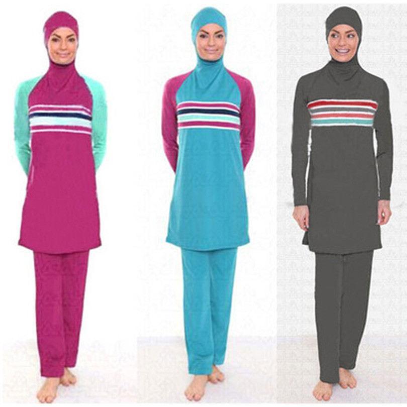 4XL-S grande taille couverture complète maillot de bain islamique hijab maillot de bain pour femmes islamique adulte maillots de bain arabe maillots de sport