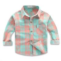 뜨거운 판매 어린이 소년 셔츠 100% 고체 아이 셔츠 의류