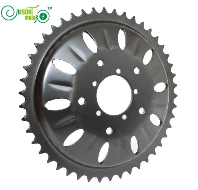 RisunMotor Exclusive BAFANG Cycling Crankset 46T Chain Wheel Bicycle For 48V 1000W BBSHD or BBS03 Center Mid Drive Motor Kits