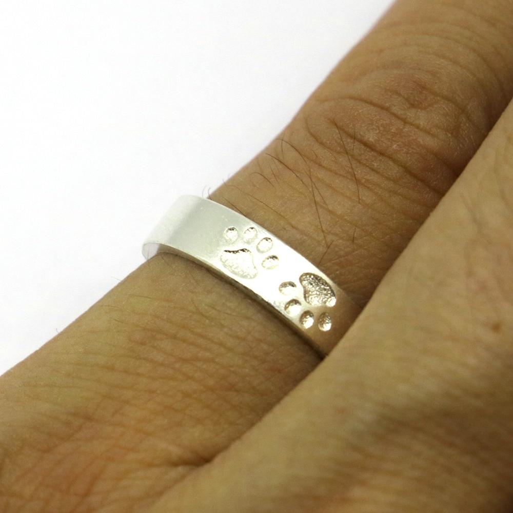 Anillo de pata de cabra de plata de ley 925 macizo, anillo de pata de - Bisutería - foto 6