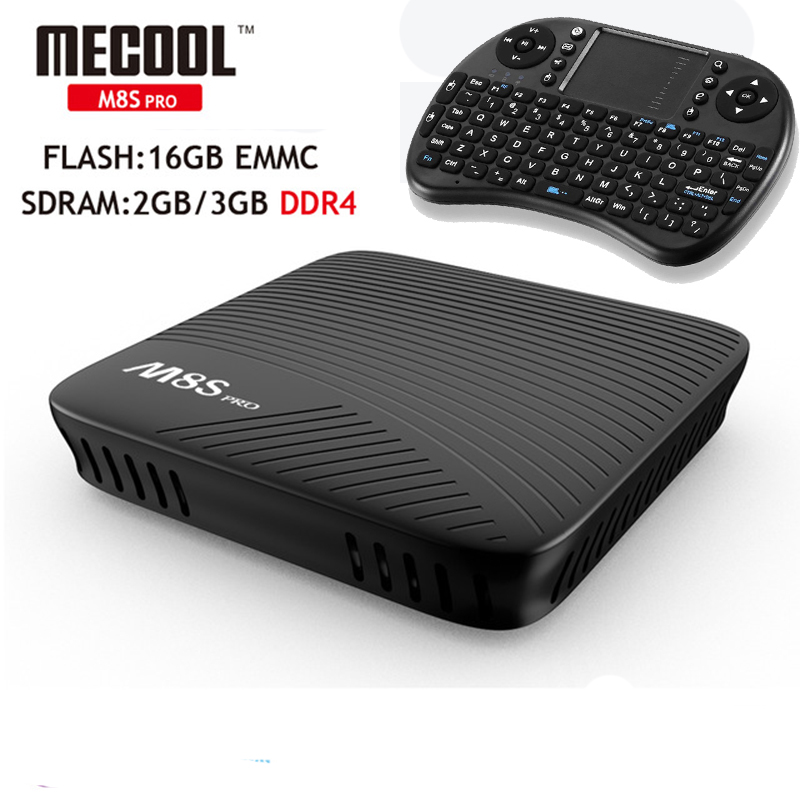 MECOOL Android 7.1 TV Box M8S PRO 3 GB DDR4/16 GB EMMC Amlogic S912 Octa Core UH