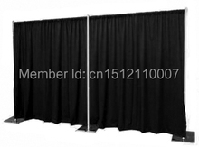 10ft*20ft Stainless Steel Wedding Backdrop Stand Backdrop Pipe with expandable Rods Adjustable Stand for Wedding Drape