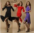Saia roupas de dança latina conjunto de dança latina irregular