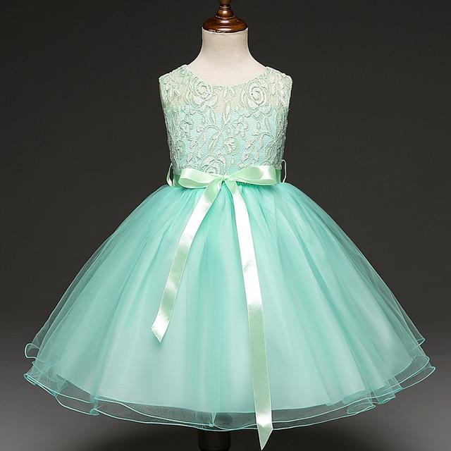 fea1bd8e54 Sukienki dla dziewczynek koronki sukienka niebieski różowy dziecko  dziewczyna ubrania księżniczki sukienka na ślub kwiat dziewczyny