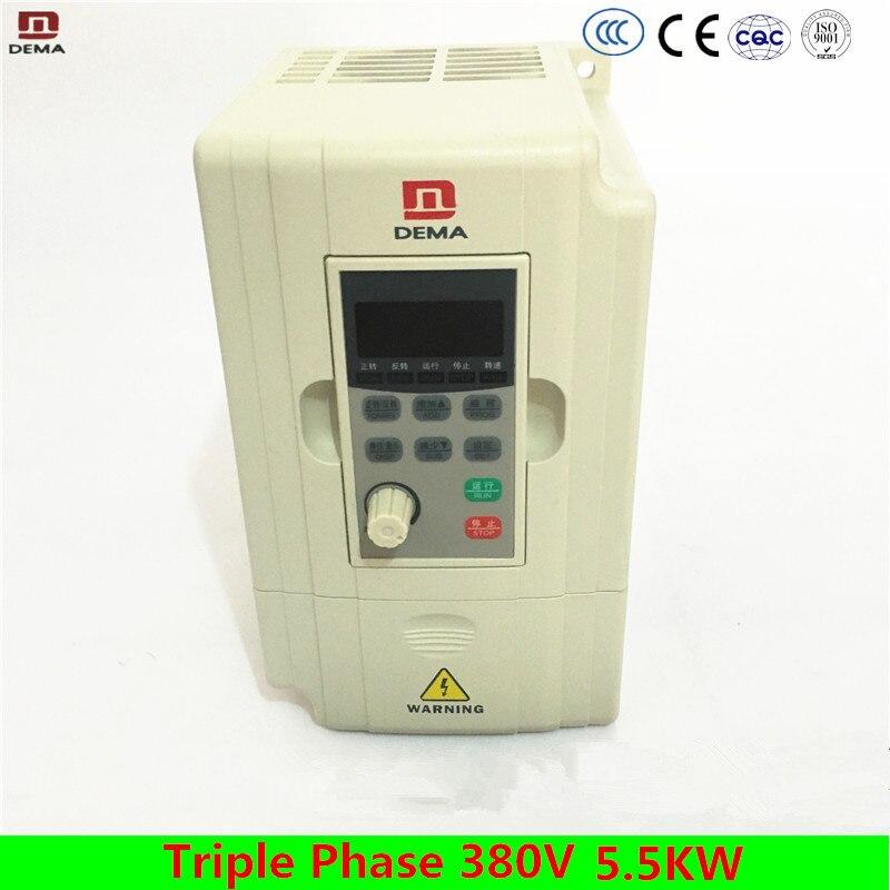все цены на DEMA D5M Series 5.5KW Frequency Inverter Variable Frequency Inverter VFD Triple Phase 380V Input 3Phases AC Drive VFD Pump Fan онлайн