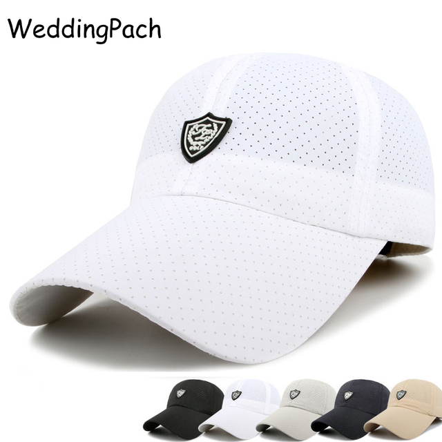 ae2c758683e0 Breathable Men Baseball Cap Solid Men Snapback Caps Summer Bone Casquette  Hat Sunscreen Mesh Male Cap 2017 New Men s Accessories