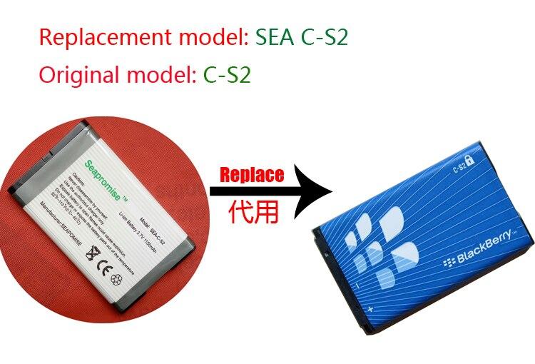 Freeshipping einzelhandel batterie C-S2 CS2 für Blackberry Curve 8300 8310 8320 8330 8520 8530 8700