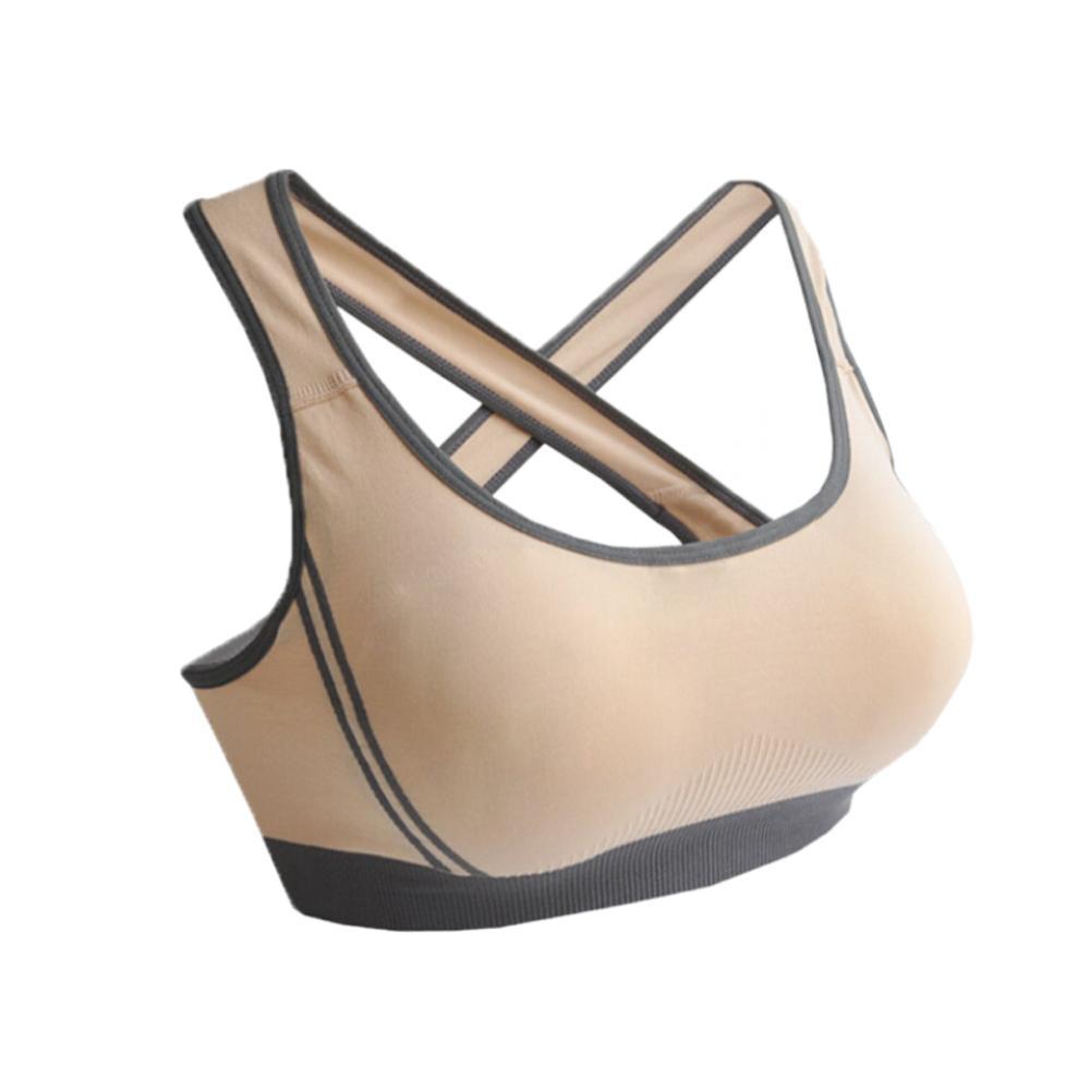 df0fe7ee00960 Women Lady Racerback Crop Top Stretch Vest Outdoor Sports Nylon Bra Gym  Shapewear Yoga Run  1043Benjamin
