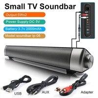 Wireless TV Soundbar 10W Bluetooth Speaker Remote Control Soundbar Audio Cable Support TF Card MP3 Player