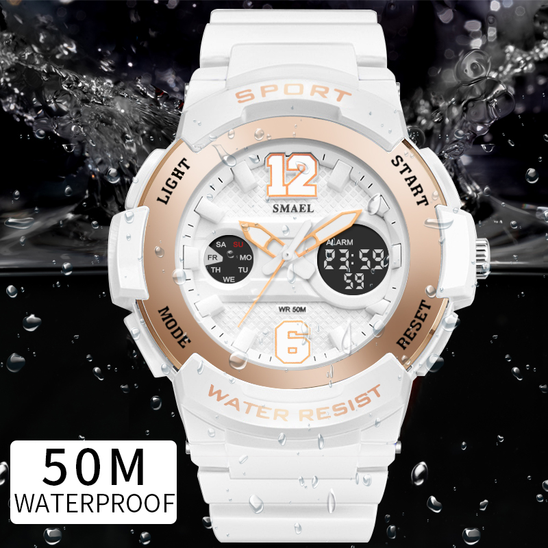 Sport Watches for Women SMAEL Ladies Watches Casual LED Digital White Clock Woman Elegant relojes mujer Women Watches WaterproofSport Watches for Women SMAEL Ladies Watches Casual LED Digital White Clock Woman Elegant relojes mujer Women Watches Waterproof