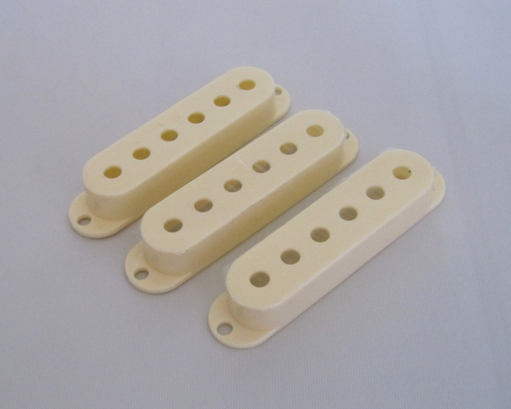 52mm Aged White 3 Single Coil ST Guitar Pickup Covers belcat bass pickup 5 string humbucker double coil pickup guitar parts accessories black