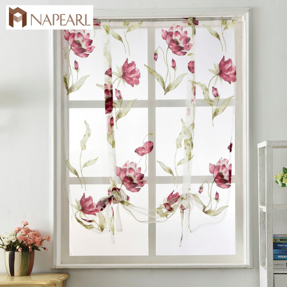 Kitchen Short Curtains Roman Blinds White Sheer Tulle: Roman Curtain Short Kitchen Valance Organza Curtains Tie