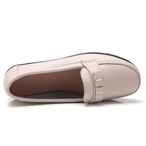 Image 2 - Ozersk Zachte Leisure Flats Vrouw Lederen Schoenen Mocassins Moeder Loafers Casual Vrouwelijke Rijden Ballet Schoenen Vrouwen Casual Schoenen