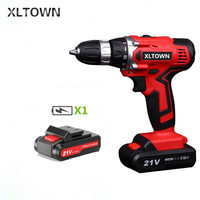 XLTOWN 21V Cordless Drill Household Multifunction Electric Screwdriver Rechargeable Lithium Battery Electric Screwdriver Tools