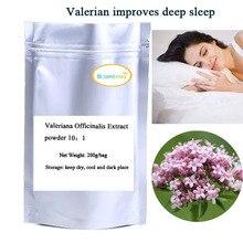 Бесплатная доставка 200 г/пакет Valeriana Officinalis Extract powder improves глубокий сон