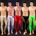 High Quality Men's Sexy Mesh Sheer Lounge Pants  Sexy Long  Pants Transparent Mesh Tights Leggings for Cool Male Gay Underwear