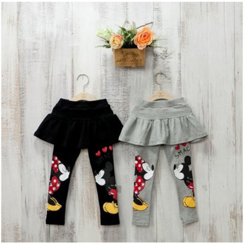 Cartoon Baby Girl Kids Clothes Stretch Tutu Skirts Pants Cartoon Leggings Size 3-7T