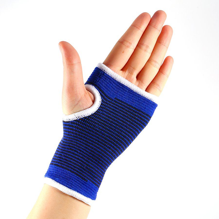 Motorcycle gloves palm protection - 2pcs New Wrist Hand Support Glove Elastic Sleeve Sports Bandage Gym Palm Wrist Wrap Yoga Safty Palm Protector Wirst Support