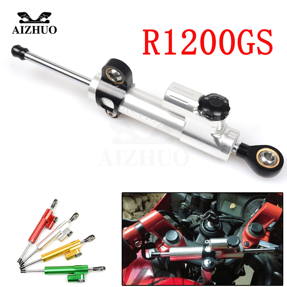 CNC Aluminum Motorcycle Damper Steering Stabilize Safety Control For BMW R1200GS 2004-2012 R1200GS ADVENTURE 2006-2013CNC Aluminum Motorcycle Damper Steering Stabilize Safety Control For BMW R1200GS 2004-2012 R1200GS ADVENTURE 2006-2013