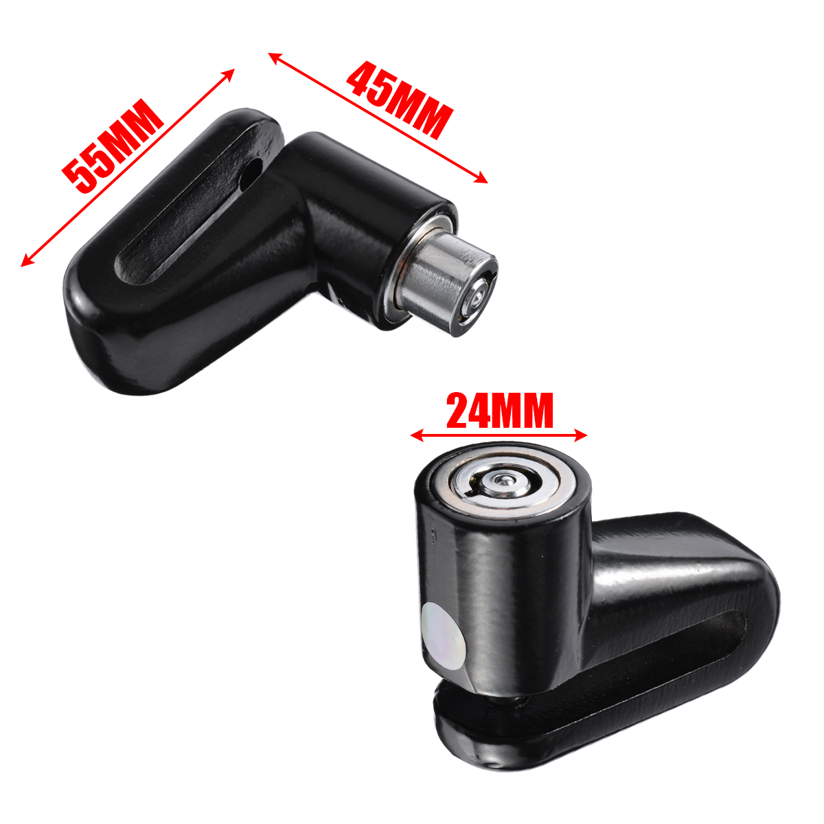 1PC Heavy Duty Motorbike Disk Brake Rotor Lock Security Anti-theft Solid Locks For Moped Scooter Electromobile Bicycle