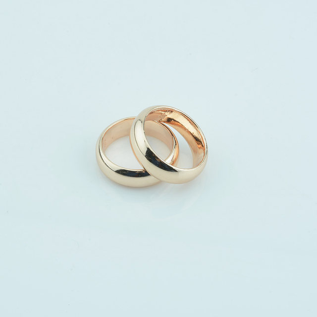 line Shop FJ 1pcs 6mm Women Men Couple Rings Jewelry 585 Rose