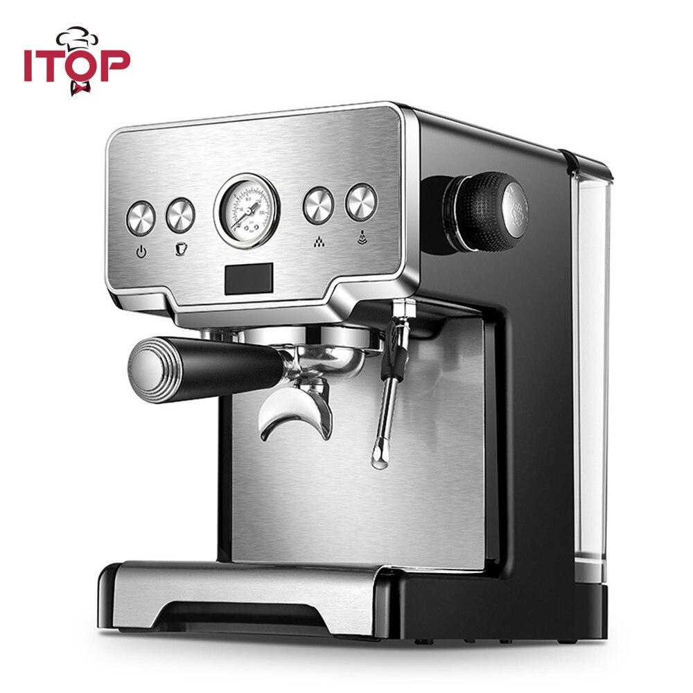Itop 이탈리아 커피 머신 15bar/1450 W/1.7l 에스프레소 커피 메이커 반자동 밀크 폼 전기 커피 메이커