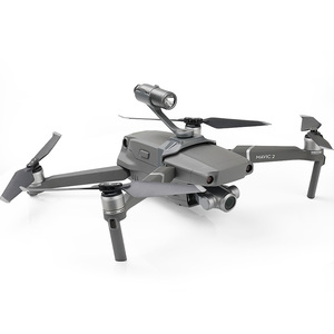 Image 2 - Drone رحلة ليلية أضواء أعلى كشاف الموسعة ل gopro hero منصب الكاميرا ل DJI mavic 2 برو/التكبير ملحقات طائرة بدون طيار
