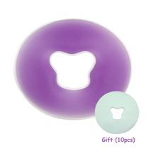 700g PU Back Massage Face Rest Pillow with Breath Hole Violet Round Soft Gel Pad Cradle Cushion Body Spa Paddle