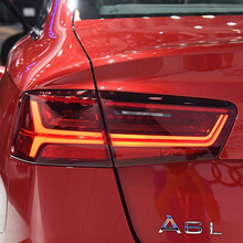 цена на Car styling For Audi A6 taillight 2012 2013 2014 2015 2016 Dynamic Turn Signal Tail Light Rear Lamp Full LED Tail Light Assembly