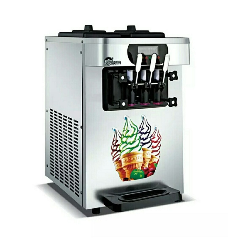 Commercial Ice Cream Maker Automatic Desktop Ice Cream Cone Machine Stainless Steel Soft Ice Cream Machine