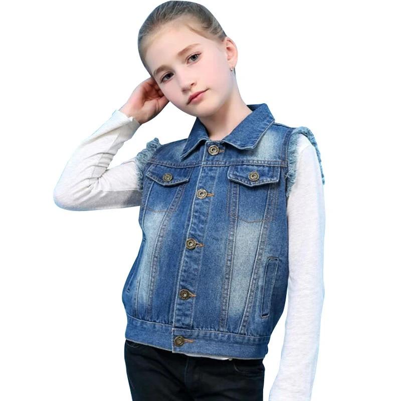 Eliacher Girls Denim Vest Sleeveless Jean Jacket