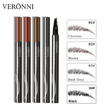 4 Colors Eyebrow Pencil 3D Eyebrows Tint VERONNI Natural Maquillaje Eye Brow Microblading Extension Liquid Tattoo Pen